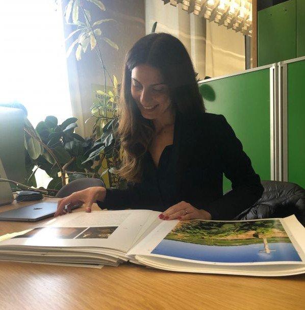 Chiara Giannotti a casa Mondadori per la prova di stampa del libro