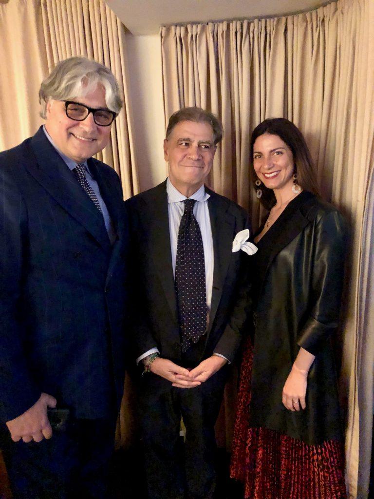 Gianfranco Sorrentino con Nunzio Castaldo e Chiara Giannotti
