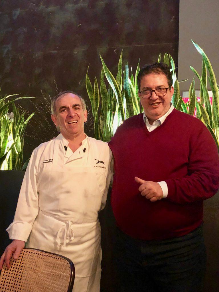Chef Vito Gnazzo con Luciano Pignataro