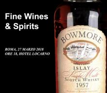 """Ansuini """"Fine Wines & Spirits Auction"""" il 27 Marzo all'Hotel Locarno"""