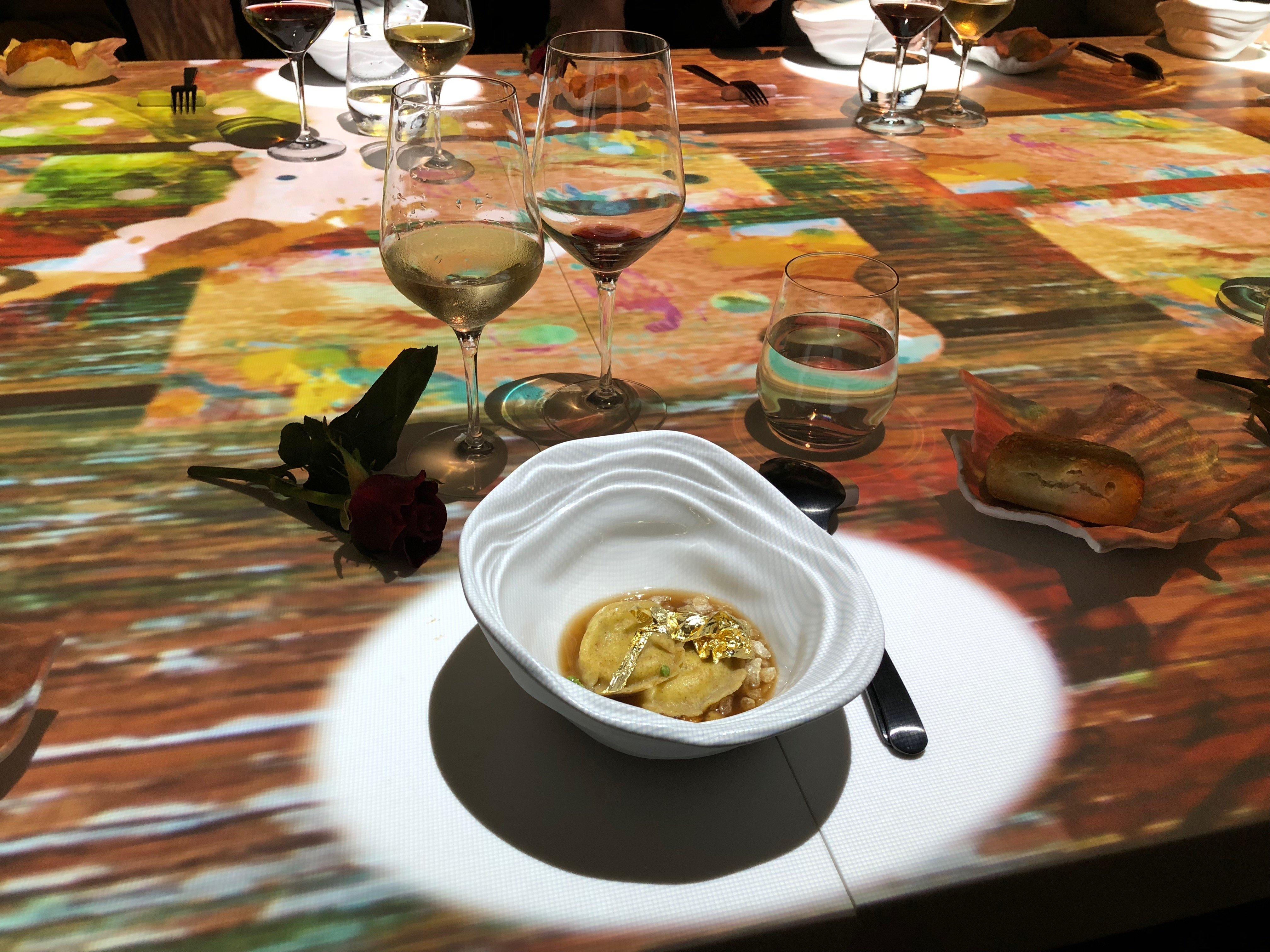 uno dei piatti di Massimo Viglietti... tra pittura e gastronomia...