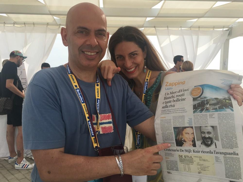 Fabio Carnevali, organizzatore dell'evento e Chiara Giannotti, presentatrice