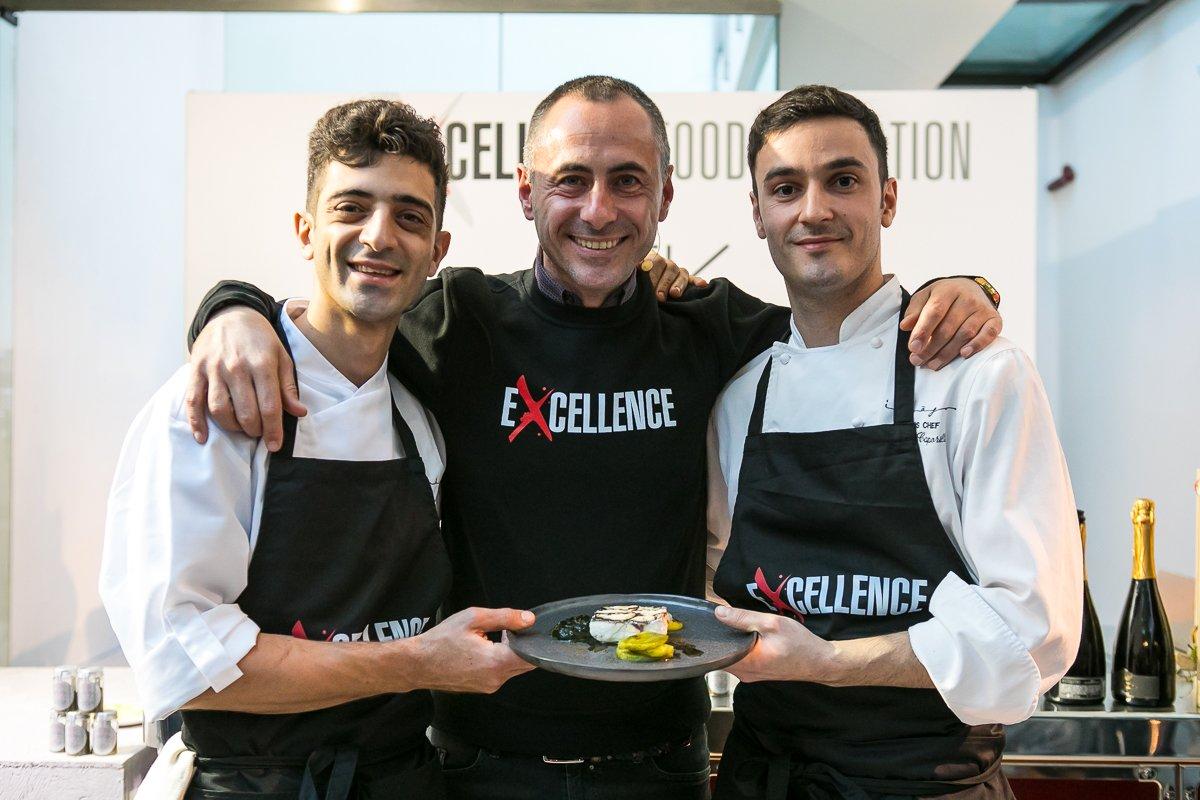 Francesco Apreda, chef di Imago, al Cooking Show di Excellence