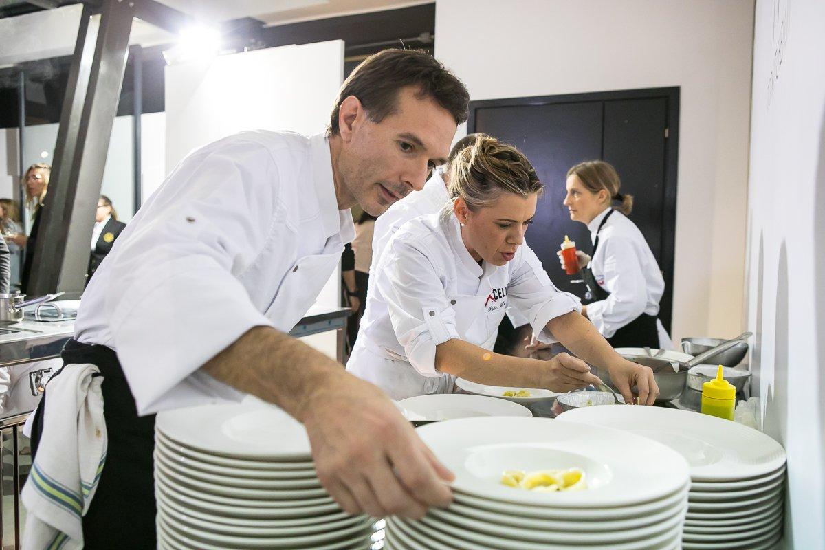 Giuseppe di Iorio e Iside de Cesare al Cooking Show di Excellence