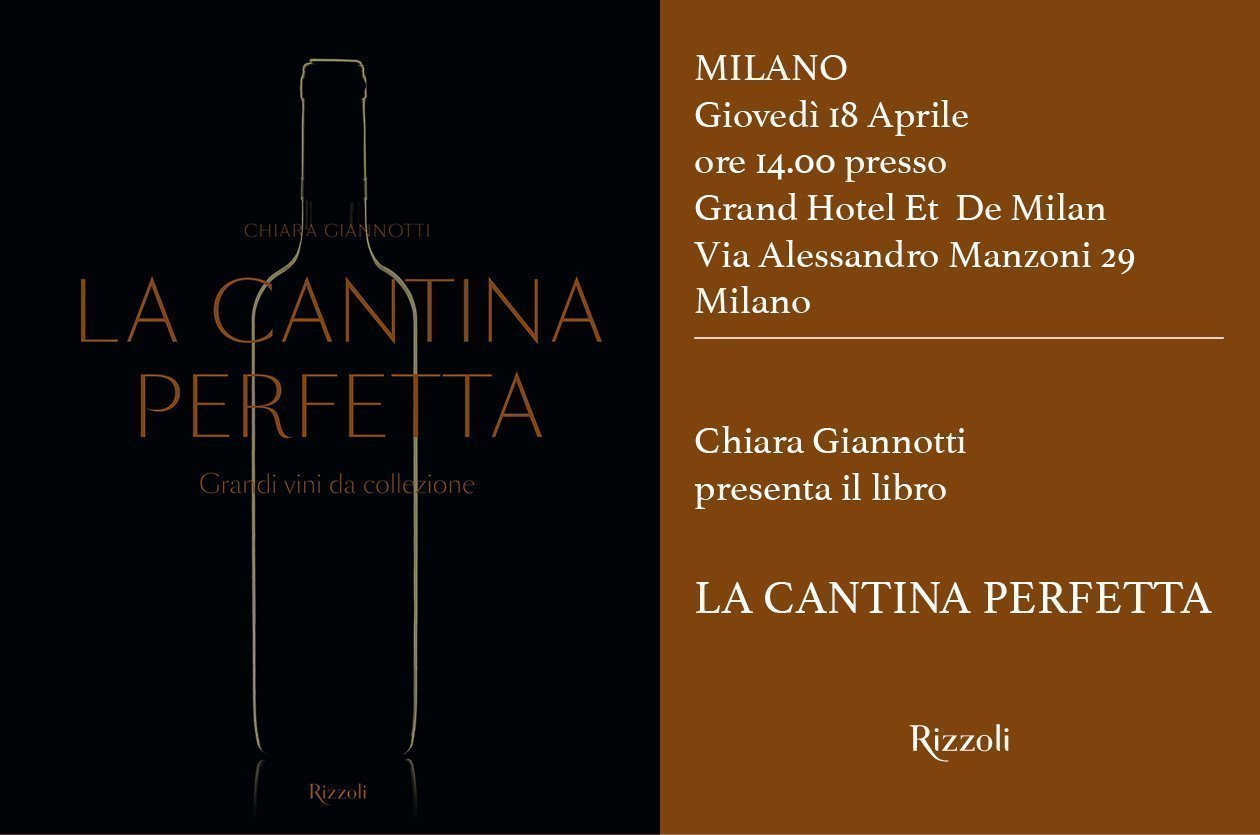 """Invito Presentazione a Milano de """"La Cantina Perfetta"""""""