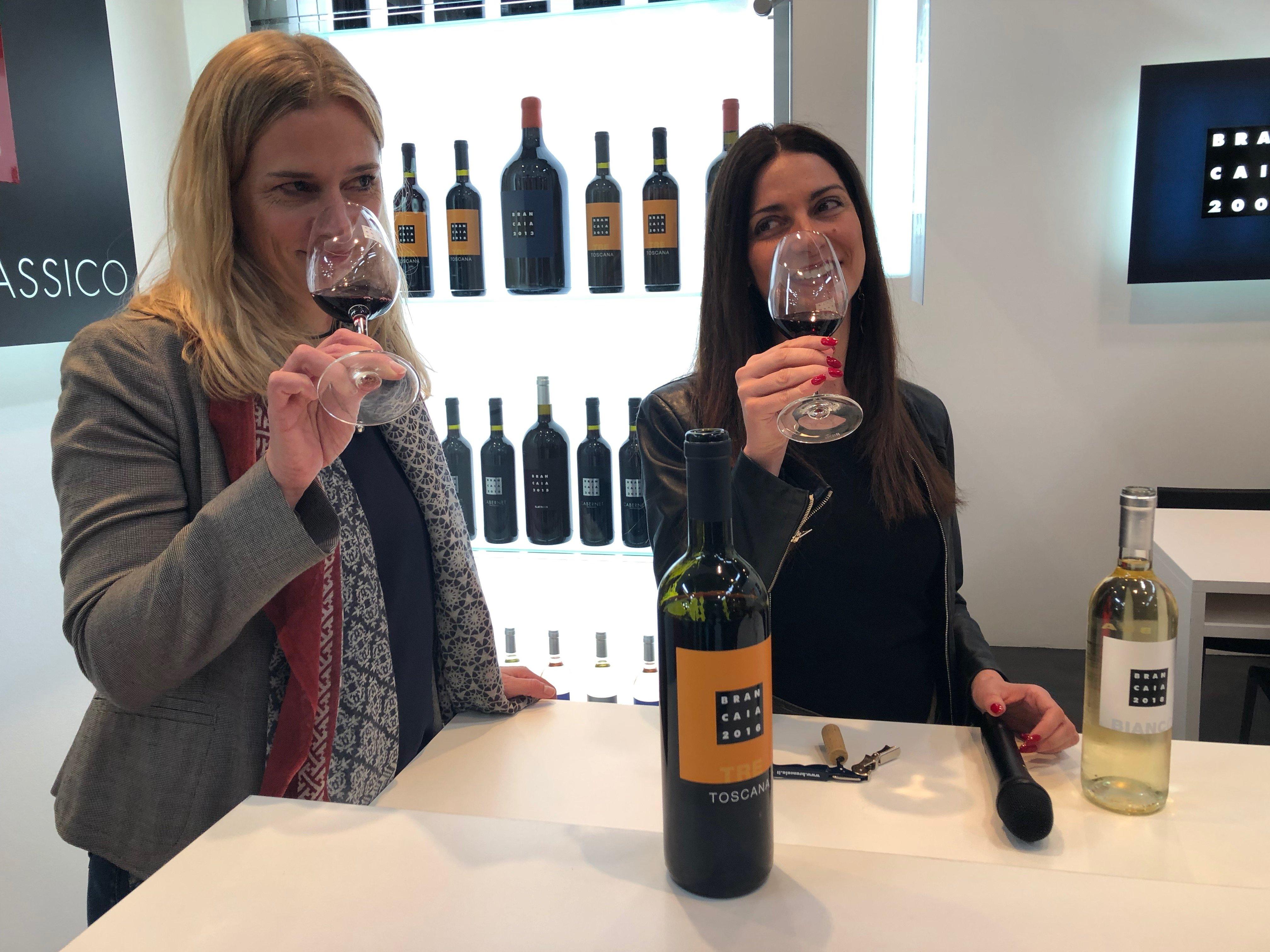 Chiara Giannotti e Barbara Widmer (Proprietaria Brancaia)