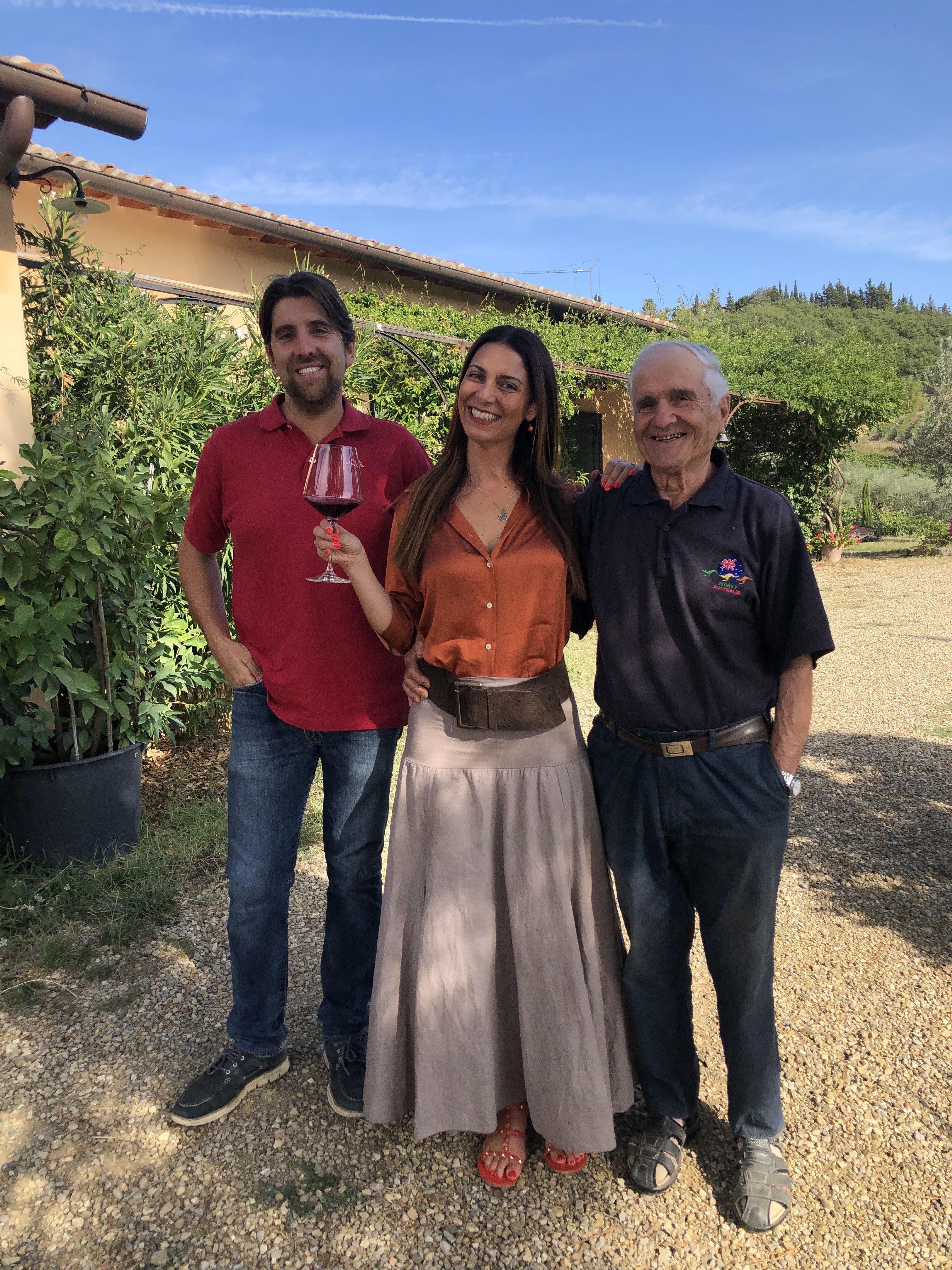 Chiara Giannotti con Francesco e Giuliano Anichini (