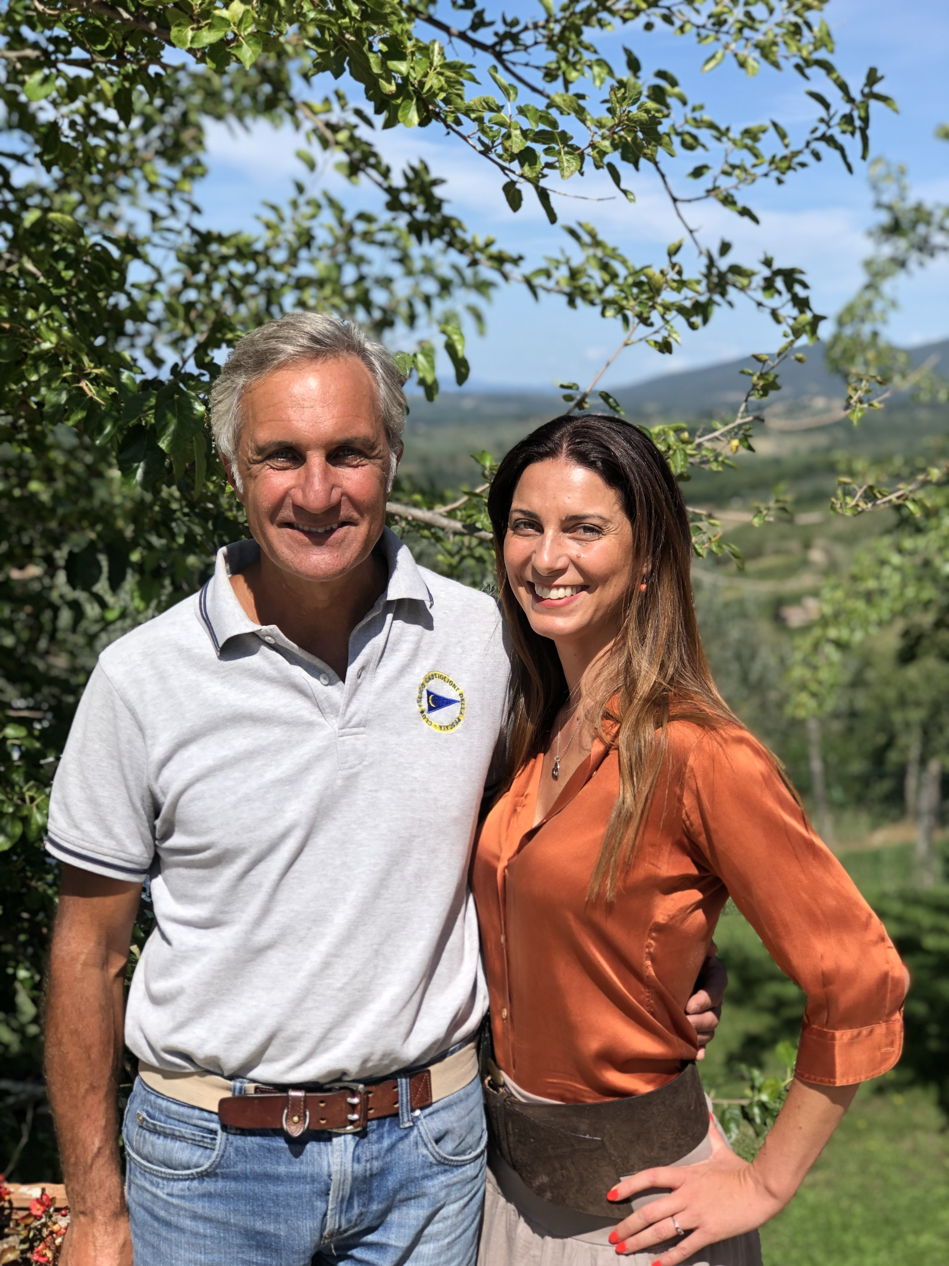 Chiara Giannotti con Luca Orsini (Le Cinciole)