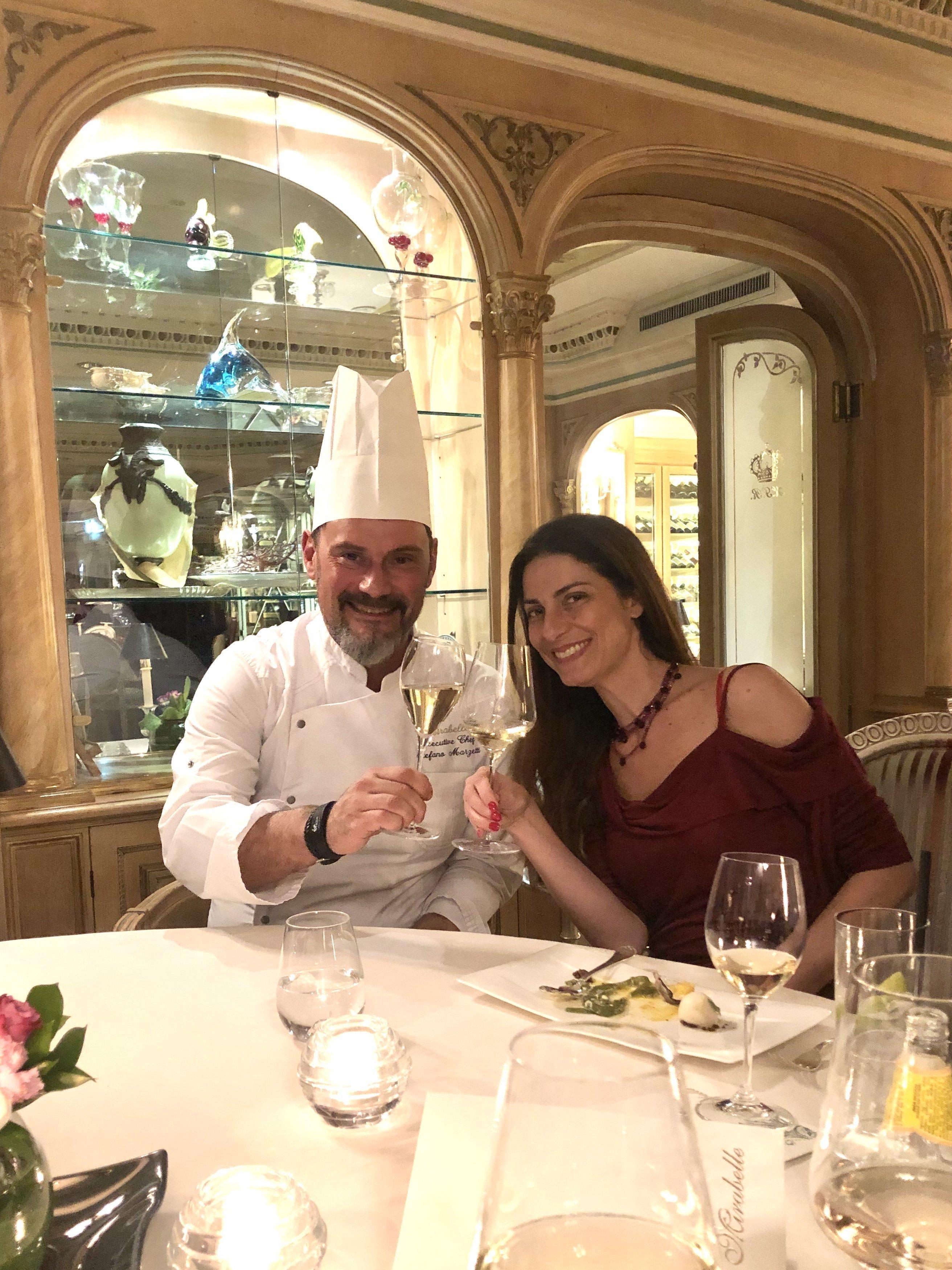 Chef Stefano Marzetti con Chiara Giannotti