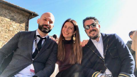 Benvenuto Brunello con Francesco Saverio Russo e Luca Martini