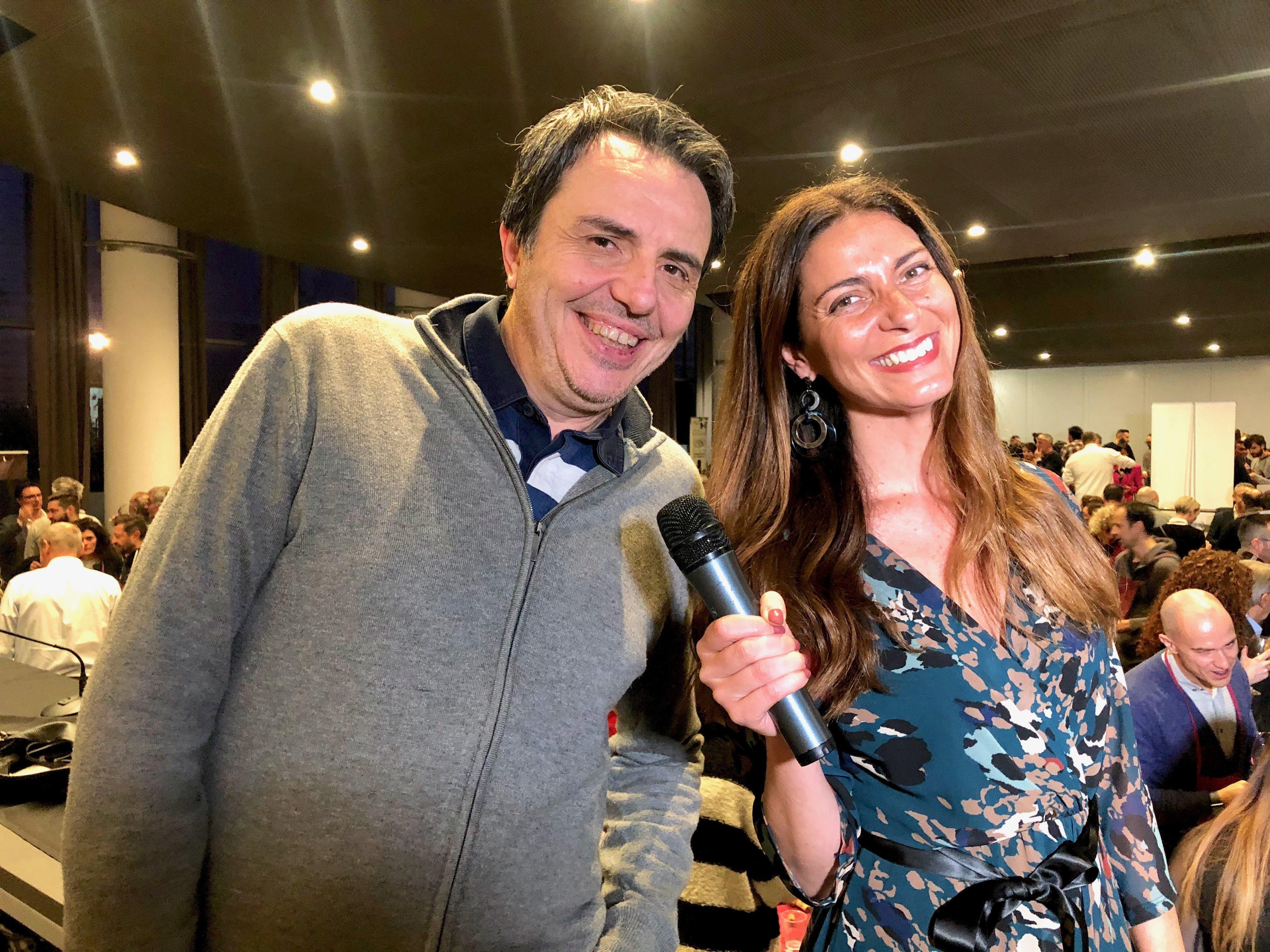 Riccardo Viscardi con Chiara Giannotti