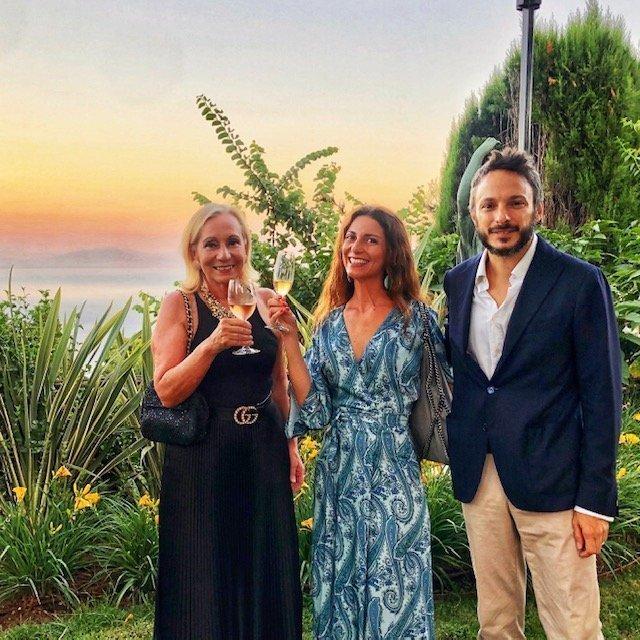 Marilisa Allegrini, Chiara Giannotti e Antonio Capaldo a Villa CImbrone